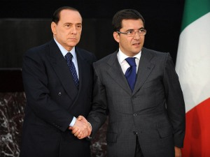 Berlusconi with Cosentino from l'Espresso